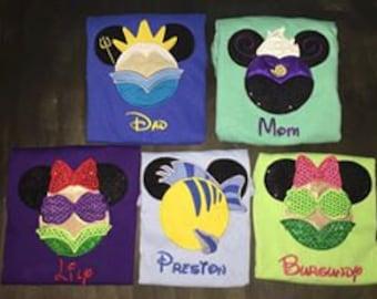 Free Shipping Custom Disney Minnie & Mickey Family Faces, Disney