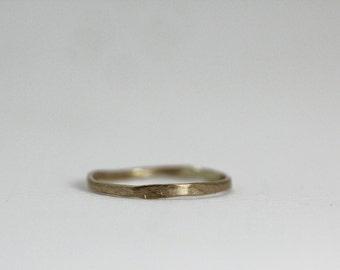 Tiny Hammered Band Ring