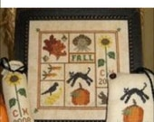 Fall Sampler Cross Stitch Chart by Prairie Grove Peddler **Visit our shop page to find a discount code!**