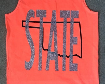 Comfort Color University STATE Tank Top in many colors and your chose State