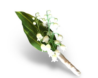 Wedding Prom Groom Groomsmen Boutonniere Lily of the valley