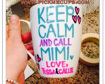 Keep calm and love Mimi - Mother's Day Mug Mother's Day mug family member coffee mug - grandma gift - gift for grandsons