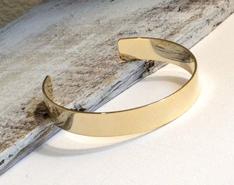 Simple Gold Bangle Bracelet, Layering Bracelet