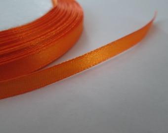 Orange Ribbon, 6mm Satin Ribbon, Orange Trim, 1 Roll (25yards)