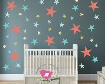 Kids Wall Decal Hot Air Balloons Baby Decor Gender Neutral - Nursery wall decals gender neutral