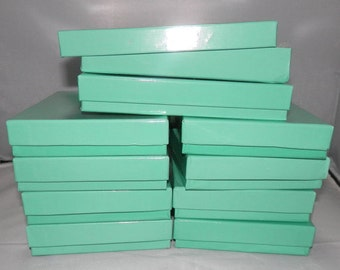 Teal Gift  boxes  Jewelry Necklace Boxes with Cotton Fill