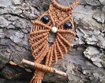 Owl Necklace, Hemp Necklace, Hemp Owl, Hemp Owl Necklace, Macrame Owl, Macrame Owl Necklace, Owl, Necklace, Hemp, Hemp Necklace