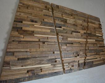 "Large Reclaimed Wood Wall Art - 60"" x 30"" x 1""-2"" - Home Decoration - Wooden Art - Pieces Art - Unique Decoration"