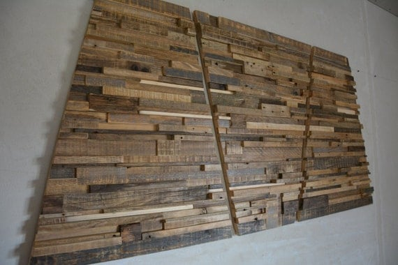 Large Wooden Wall Art large reclaimed wood wall art 60 x 30 x