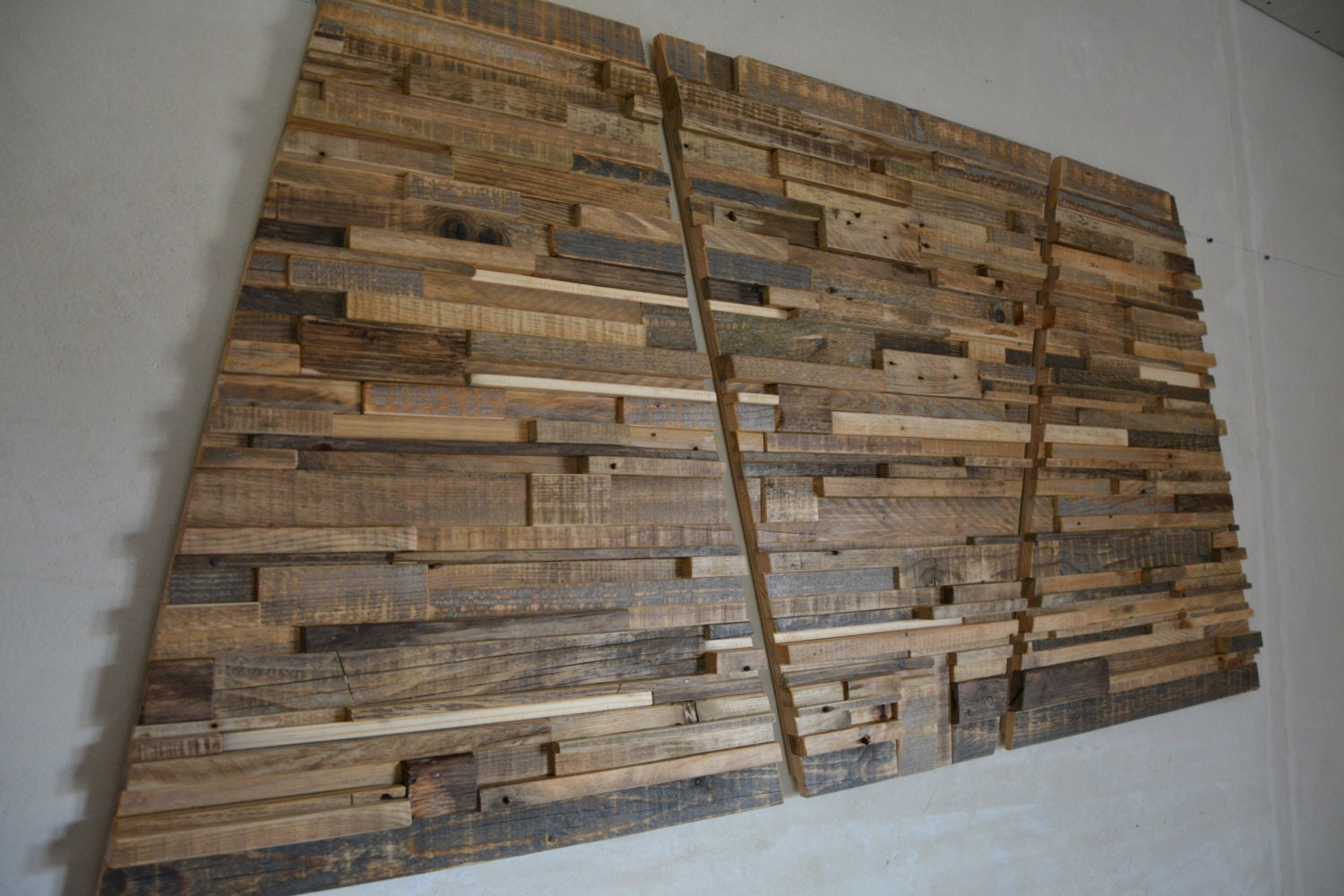 Large Reclaimed Wood Wall Art 60 X 30 X