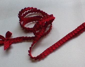 Dog Leash,Black, Red polka dot, Handmade 6 Ft with Bow #BRPL209