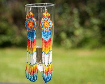 Estrella Huichol Earrings