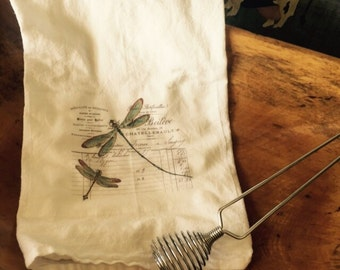 Dragonfly tea towel