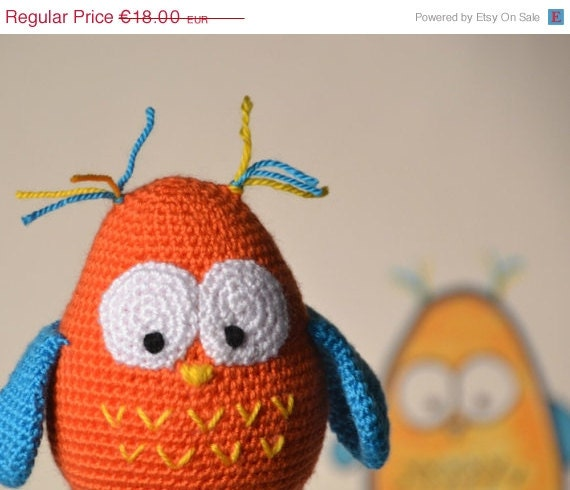 Amigurumi Owl Wings : Amigurumi owl funny toddlers toy birthday party by ittooktwo