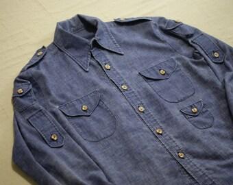 Blue Vintage Workwear Shirt