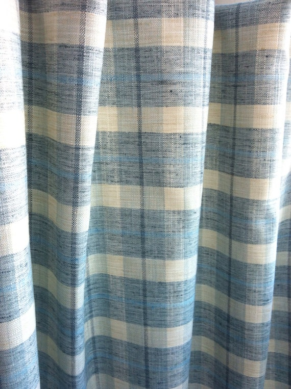 Upholstery Fabric By The Yard: P Kaufmann Plaid Light Blue