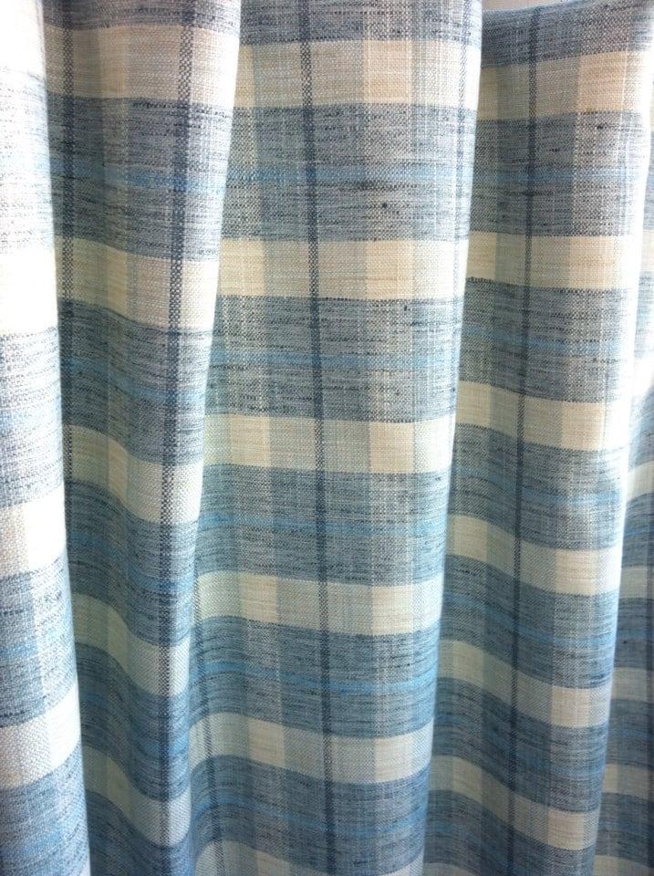 Upholstery Fabric by the Yard P Kaufmann Plaid Light blue