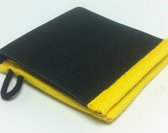 ELCO elastic coin pouch with yellow trimming
