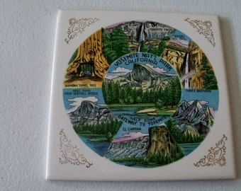 Made In Japan Ceramic Tile Of Yosemite National Park California