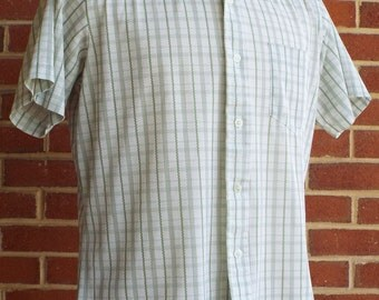 Vintage Short Sleeve Button Down Shirt by Grants Mens Wear