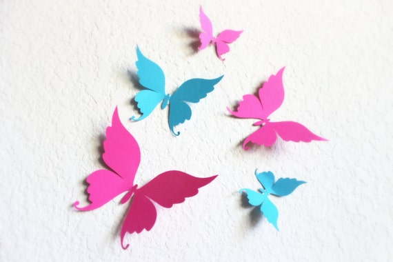 Etsy Butterfly Wall Decor : Items similar to d butterfly wall art