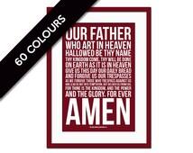 Lord's Prayer Matthew 6:9-13 - Scripture Art - Scripture Art Print - Christian Wall Decor - Bible Verse - Biblical Art Print - Inspirational