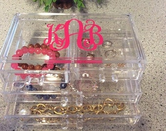 Personalized Acrylic Jewelry Box / Organizer