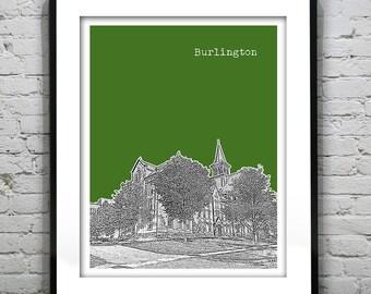 Burlington Vermont Skyline Poster Art Print Version 3