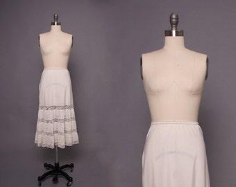 Vintage 1950s White Lace Slip • Revival Vintage Boutique