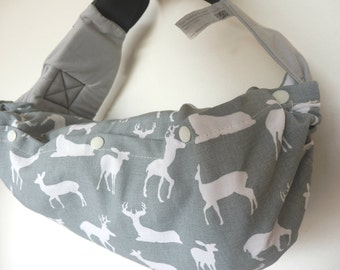 Baby carrier pod/bag/sack/storage  for  Ergo, Tula, Boba, Beco, Manduca, etc...-Deer in cool gray