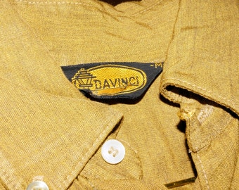1960s DaVinci Oxford Shirt Sz M Vintage Retro Cruiser