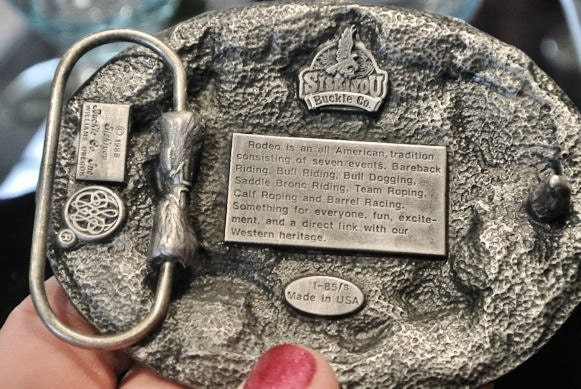 Pewter Buckle Rodeo Belt Buckle 1988 Made In Usa Siskiyou