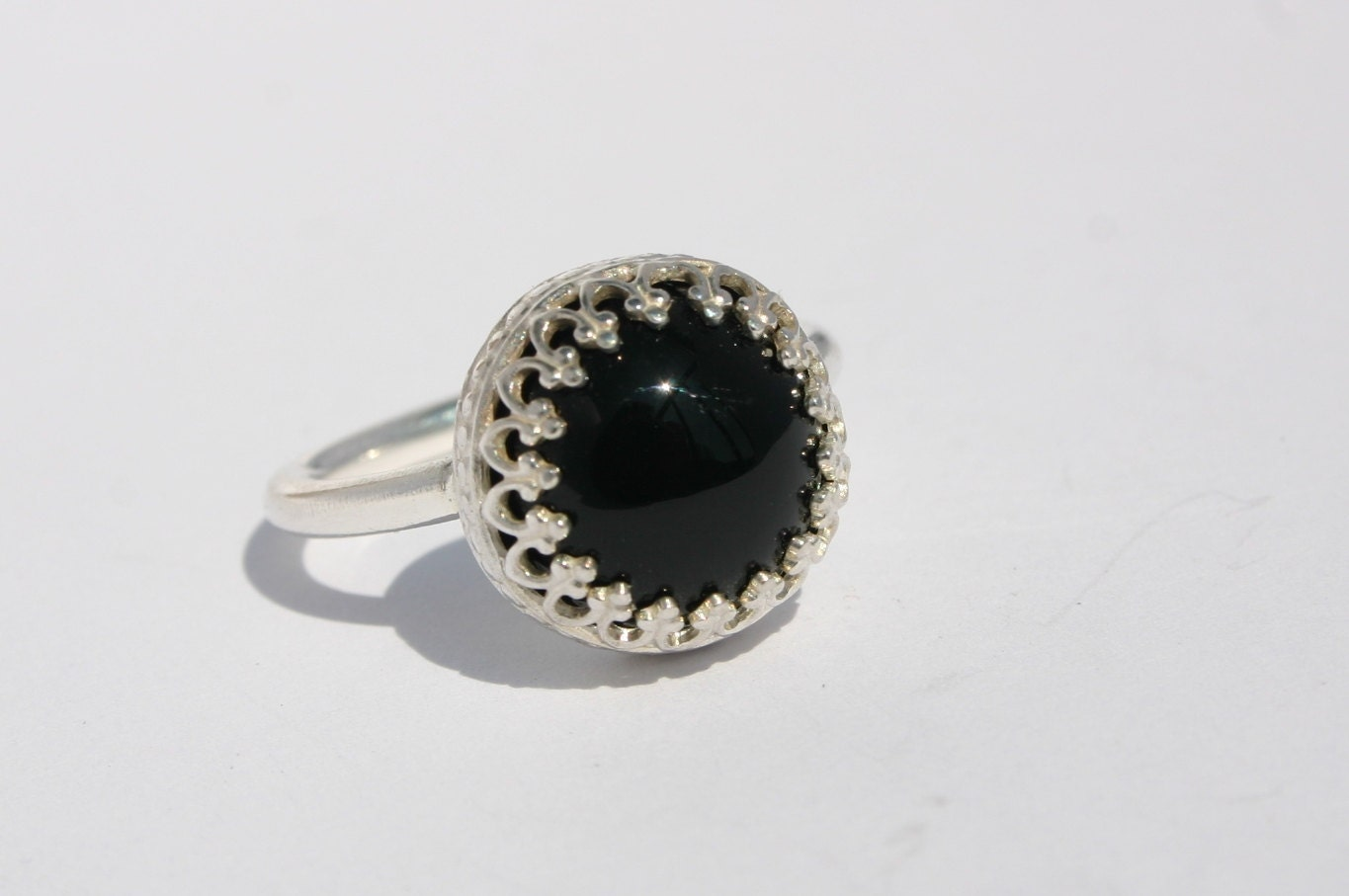 sterling silver black onyx ring promise ring protection