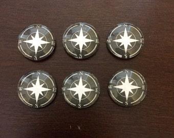 Compass Bubble Magnets
