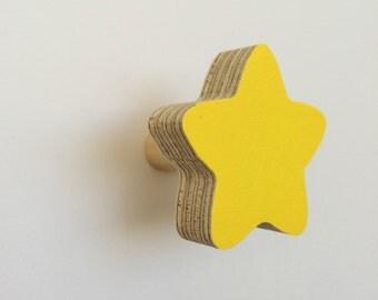 Wall Hook Star Yellow