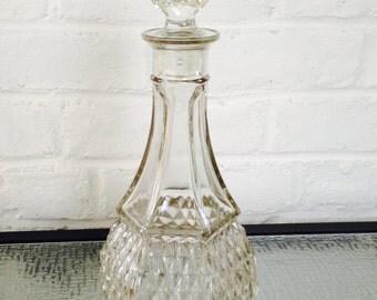 Indiana Glass Company Diamond Point Decanter