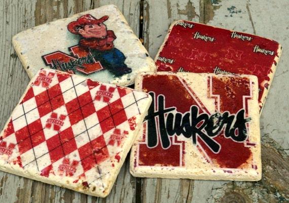 Nebraska Cornhuskers Drink Coasters/ Man By
