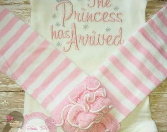 The Princess has Arrived onesie set