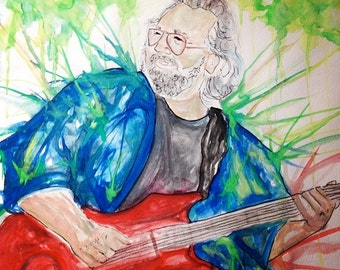 Jerry Garcia Watercolor PRINT