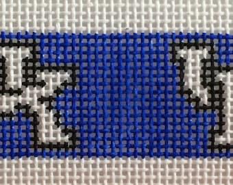 University of Kentucky dog collar needlepoint canvas kit