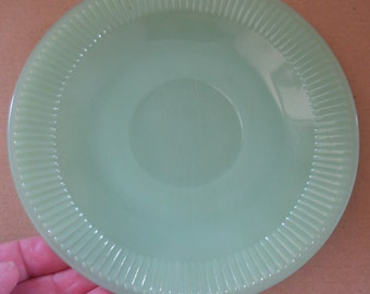 Perfect Vintage 1960s  Fire King Jadite Jane Ray Jadeite Green Milk Glass saucer