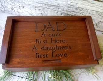 Gift for Dad, Dad Memory Box, First Hero, First Love for Dad, Cigar Box, Dads Gift, Memory Box,Birthday Gift for Dad