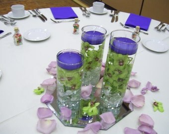 6 Purple Floating Candles,Available in 20 Colors