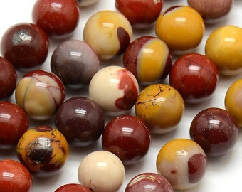 8mm Mookaite Natural Bead Strands