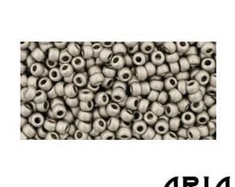 ANTIQUE SILVER MATTE (566): 11/o Toho Japanese Seed Beads (10 grams)