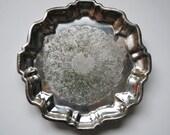 Tray Small Footed English Silver Company 1950s