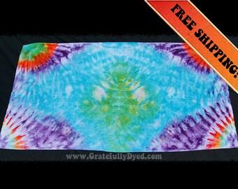 Tie Dye Towel - Festival Gear - Tie-Dye Artwork - Hippie Wear - Handmade Art - GratefullyDyed
