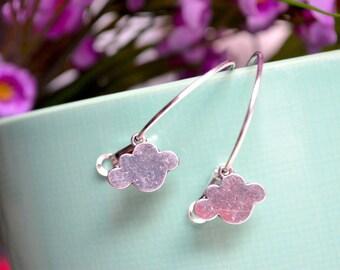 Hoop earrings silver cloud