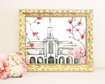 Bountiful Temple Watercolor