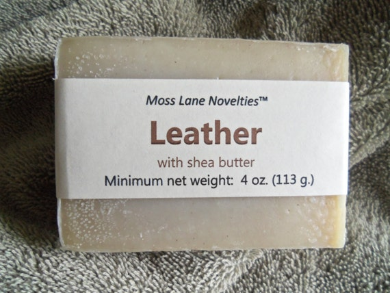 Leather Scented Cold Process Soap with Shea Butter